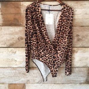 Zara L leopard bodysuit